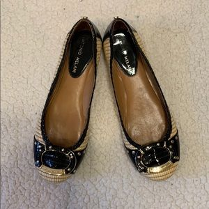 EUC cream and black Antonio Melani flats